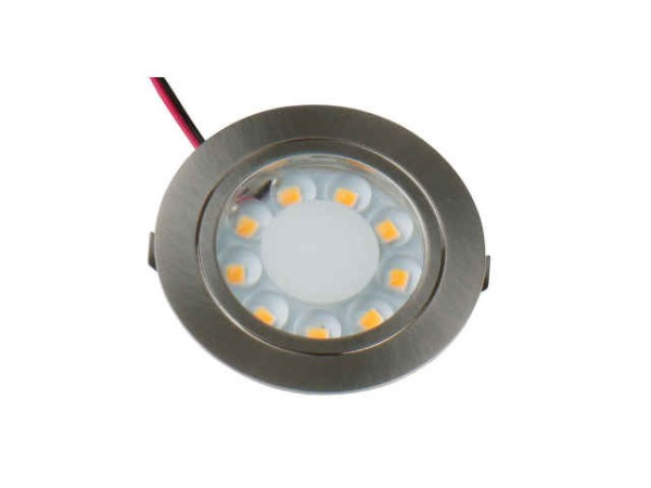 12V LED-Spot, gebürstetes Edelstahl, 1,7 Watt