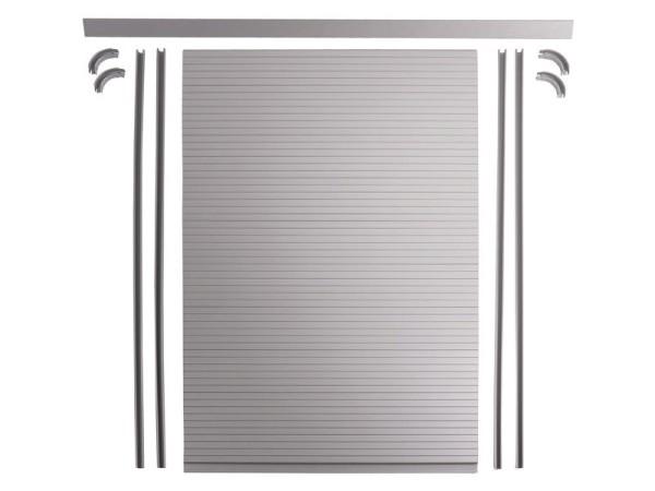 Rollladen Tür Komplettset silber grau