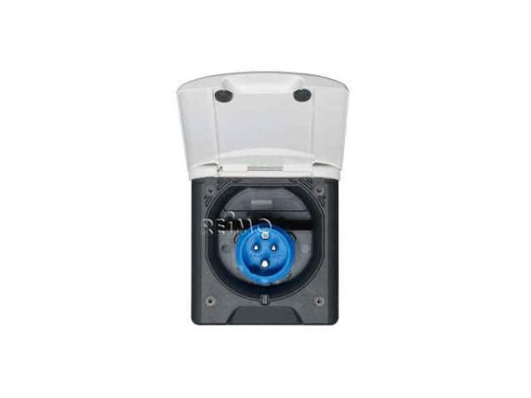 CEE Steckdose mit Magnetverschluss weiß